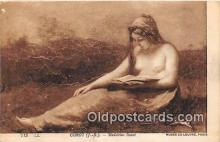 nud007163 - Corot, Madeleine Lisant Musee Du Louvre, Paris Postcard Post Card