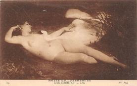 nud008018 - Louis Courtat Leda Nude Postcard