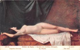 nud008024 - Augusie Zwiller Nude Postcard