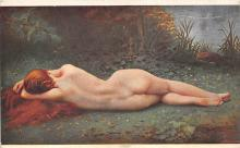 nud008091 - Nymph Asleep Nude Postcard