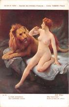 nud008184 - The Lover Lion Nude Postcard