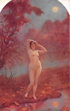 nud008300 - In the serene evening Nude Postcard