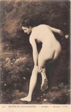 nud008406 - Artemise Wencker Nude Postcard