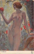 nud008411 - Eva, Eve Nude Postcard