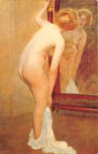 nud008466 - Woman in front of a Psyche Nude Postcard