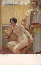 nud008475 - Modellpause Nude Postcard