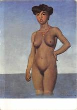 Bathing woman with coral necklace