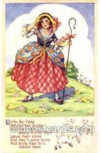 nur001096 - Little Bo - PeepLittle Bo - Peep, Nursery Rhyme, Postcard Postcards
