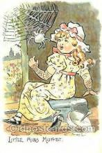 nur001097 - Little Miss MuffetLittle Miss Muffet, Nursery Rhyme, Postcard Postcards