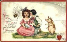 nur001107 - Miss Muffett Nursery Rhyme, Postcard Postcards