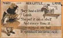 nur001109 - Mary & Her Little Lamb Nursery Rhyme, Postcard Postcards