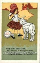 nur001122 - Mary & Her Little Lamb Nursery Rhyme, Postcard Postcards