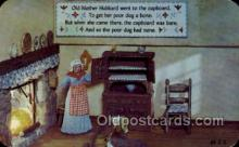 nur001144 - Old Mother Hubbard Nursery Rhyme Postcard Post Card Old Vintage Antique