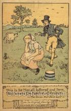 nur001155 - Artist Randolph Caldecott Nursery Rhyme Postcard Post Card Old Vintage Antique