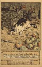 nur001172 - Artist Randolph Caldecott Nursery Rhyme Postcard Post Card Old Vintage Antique
