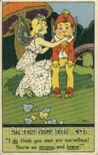 nur001196 - The First Fairy Tales Nursery Rhyme Postcard Post Card Old Vintage Antique