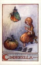 nur001198 - Cinderella Nursery Rhyme Postcard Post Card Old Vintage Antique