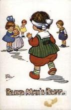 nur001199 - Blind Man Buff Nursery Rhyme Postcard Post Card Old Vintage Antique