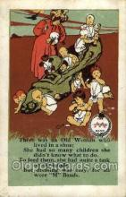 nur001200 - There was and Old Woman Nursery Rhyme Postcard Post Card Old Vintage Antique