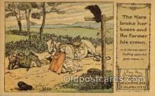 nur001206 - Artist Randolph Caldecott Nursery Rhyme Postcard Post Card Old Vintage Antique