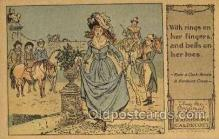nur001211 - Artist Randolph Caldecott Nursery Rhyme Postcard Post Card Old Vintage Antique