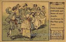 nur001214 - Artist Randolph Caldecott Nursery Rhyme Postcard Post Card Old Vintage Antique