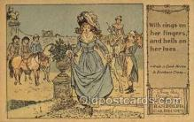 nur001223 - Artist Randolph Caldecott Nursery Rhyme Postcard Post Card Old Vintage Antique