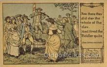 nur001224 - Artist Randolph Caldecott Nursery Rhyme Postcard Post Card Old Vintage Antique