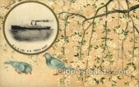 nyk001010 - S.S. Korea Maru Nippon Yusen Kaisha Ship, NYK Shipping Postcard Postcards