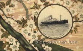 nyk001024 - S.S. Hakusan Maru Nippon Yusen Kaisha Ship, NYK Shipping Postcard Postcards