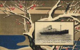 nyk001025 - S.S. Hakusan Maru Nippon Yusen Kaisha Ship, NYK Shipping Postcard Postcards