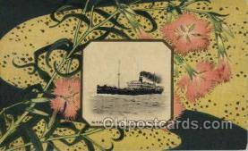 nyk001030 - S.S. Kashima Maru Nippon Yusen Kaisha Ship, NYK Shipping Postcard Postcards