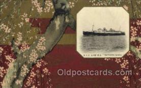 nyk001044 - S.S. Tatsuta Maru Nippon Yusen Kaisha Ship, NYK Shipping Postcard Postcards