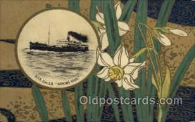 nyk001045 - S.S. Kashima Maru Nippon Yusen Kaisha Ship, NYK Shipping Postcard Postcards