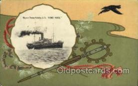 nyk001050 - S.S. Kamo Maru Nippon Yusen Kaisha Ship, NYK Shipping Postcard Postcards
