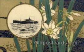 nyk001052 - S.S. Kamo Maru Nippon Yusen Kaisha Ship, NYK Shipping Postcard Postcards