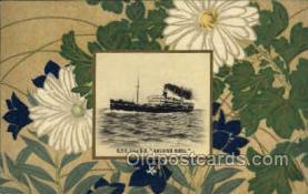 nyk001054 - S.S. Kashima Maru Nippon Yusen Kaisha Ship, NYK Shipping Postcard Postcards