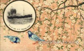 nyk001055 - S.S. Kashima Maru Nippon Yusen Kaisha Ship, NYK Shipping Postcard Postcards