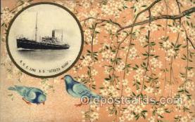 nyk001072 - S.S. Atsuta Maru Nippon Yusen Kaisha Ship, NYK Shipping Postcard Postcards