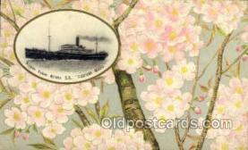 nyk001086 - S.S. Fushimi Maru Nippon Yusen Kaisha Ship, NYK Shipping Postcard Postcards