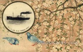 nyk001089 - S.S. Haruna Maru  Nippon Yusen Kaisha Ship, NYK Shipping Postcard Postcards