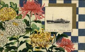 nyk001092 - S.S. Terukuni Maru Nippon Yusen Kaisha Ship, NYK Shipping Postcard Postcards