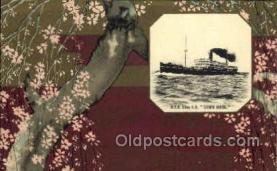 nyk001100 - S.S. Suwa Maru Nippon Yusen Kaisha Ship, NYK Shipping Postcard Postcards