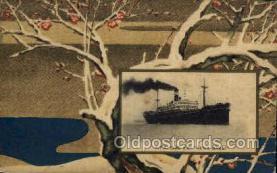 nyk001101 - S.S. Suwa Maru Nippon Yusen Kaisha Ship, NYK Shipping Postcard Postcards