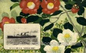 nyk001103 - S.S. Shanghai Maru Nippon Yusen Kaisha Ship, NYK Shipping Postcard Postcards