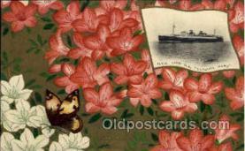nyk001115 - S.S. Tatsuta Maru Nippon Yusen Kaisha Ship, NYK Shipping Postcard Postcards