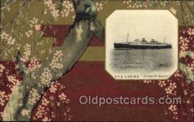 nyk001116 - S.S. Tatsuta Maru Nippon Yusen Kaisha Ship, NYK Shipping Postcard Postcards