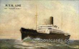 nyk001126 - S.S. Katori Maru Nippon Yusen Kaisha Ship, NYK Shipping Postcard Postcards