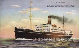 nyk001133 - S.S. Hakusan Maru Nippon Yusen Kaisha Ship, NYK Shipping Postcard Postcards