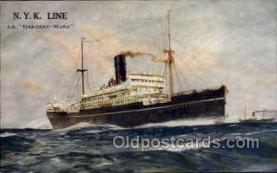 nyk001134 - S.S. Hakozaki Maru Nippon Yusen Kaisha Ship, NYK Shipping Postcard Postcards